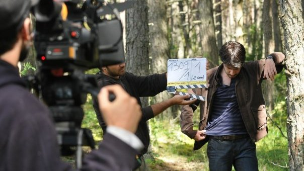 Photo making-off de Hero Corp saison 1 : Simon Astier